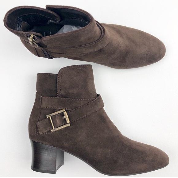 42fecab8361aa Aquatalia Shoes - Aquatalia Fuoco Low-Heel Suede Zip Booties